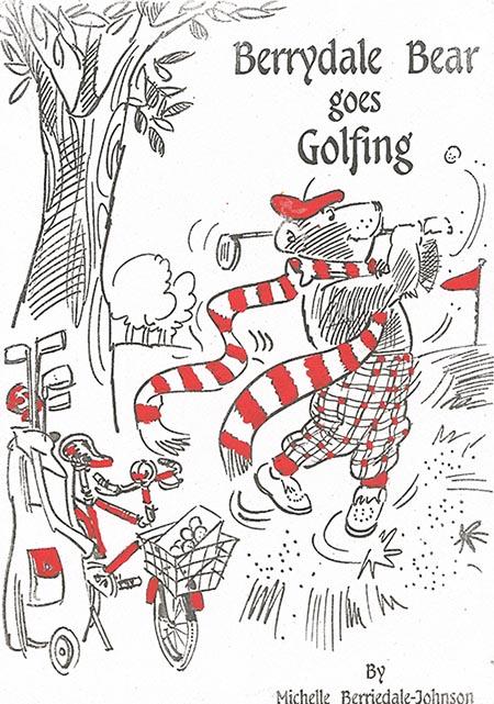 Berrydale Bear golfing