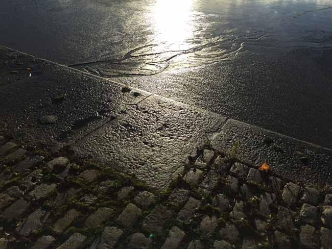Cobbles and mud