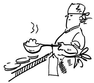 Cook with spoon