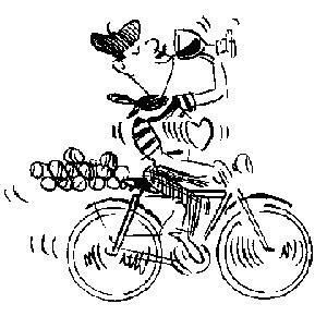 Frenchman on bike