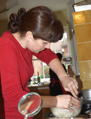 Katherine stirring