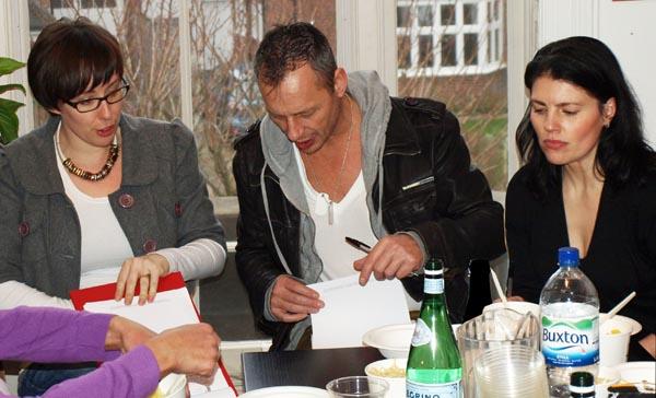 Kim McGowan, Frank Bordoni and Hulya Erdal